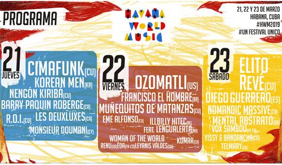 Con ráfaga de conciertos comienza en Cuba Festival Havana World Music
