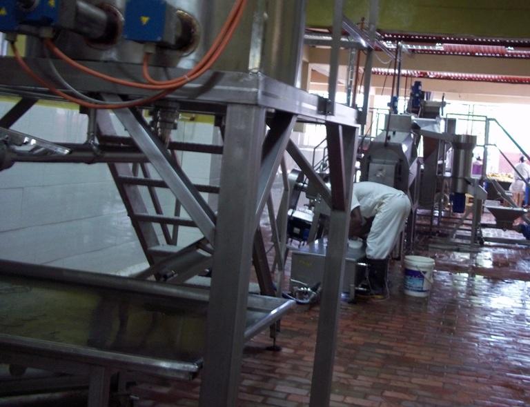 Tramo de la nueva línea productiva incorporada a la fábrica de conservas de Baracoa