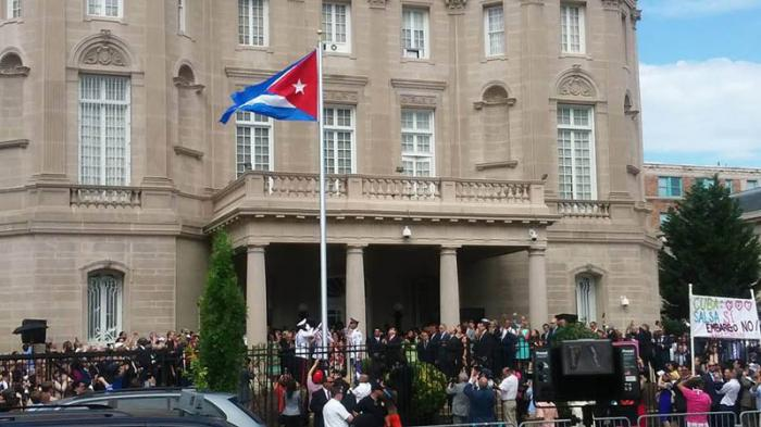 bandera cubana ondea washington