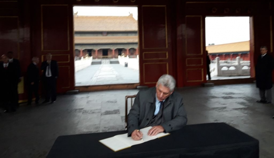 diaz canel museo beijing