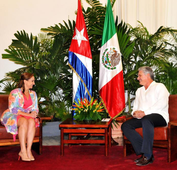 diaz canel canciller mexico claudia
