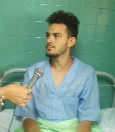 El argentino Fabricio Godoy, estudiante de Medicina, reconoció la profesionalidad y excelente atención ofrecidas en el hospital.
