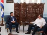 Bruno Rodríguez recibió al Secretario de Estado del Ministerio de Relaciones Exteriores de Cambodia