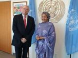 Ministro cubano aborda desarrollo sostenible con autoridades de ONU