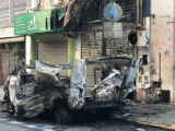 Explota camioneta a seis cuadras del Congreso argentino