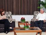 Recibió Presidente cubano a expresidenta de Argentina