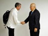 Recibe alto funcionario cubano a presidente del gobierno de Canarias