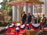 Sostienen conversaciones oficiales, mandatarios de Cuba y Laos