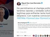 Presidente de Cuba rechaza injerencia de Estados Unidos