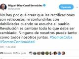 Rectificar no es signo de debilidad, afirma presidente de Cuba