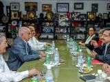 Recibió Machado a Secretario General del FMLN