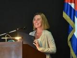 UE y Cuba trabajan para fortalecer relaciones, asegura Mogherini